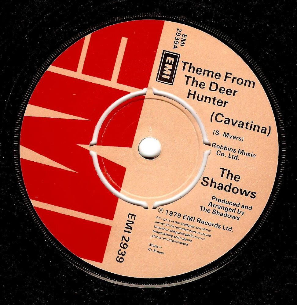 THE SHADOWS Theme From The Deer Hunter Vinyl Record 7 Inch EMI 1979